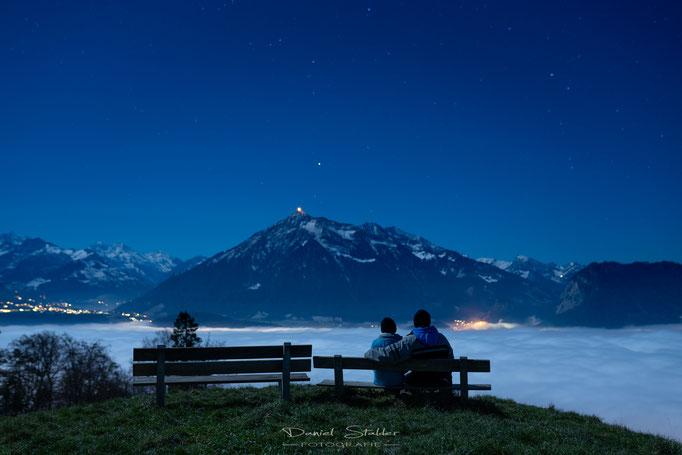 Sternenhimmel über dem Nebelmeer  -N42-