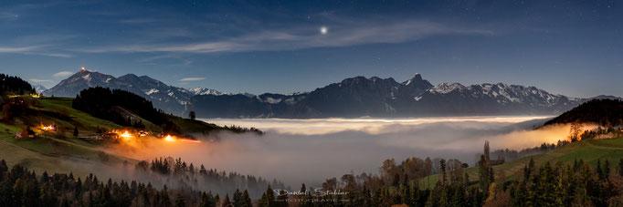 Sicht von Goldiwil über dem Nebelmeer -N40-