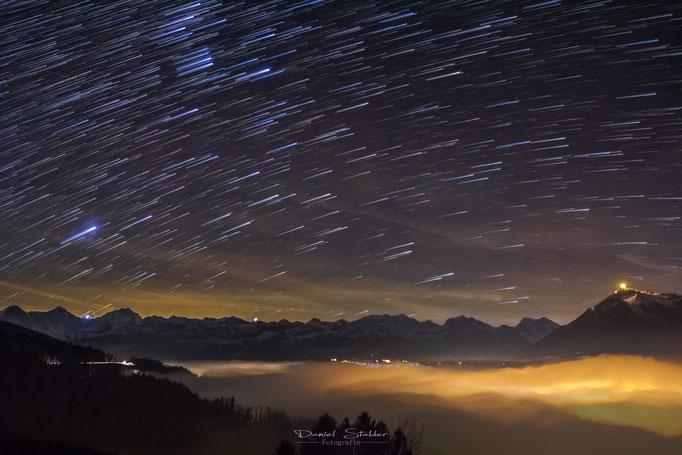 Startrails über dem Berner Oberland   -N2-