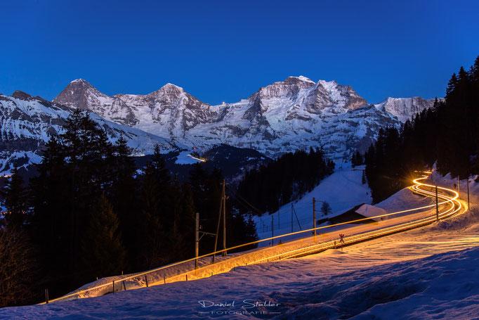 Eiger Mönch und Jungfrau im letzten Abendlicht -N37-