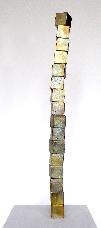 Turm, ca. 77cmx5x5cm, Bronze 1/3, 2018