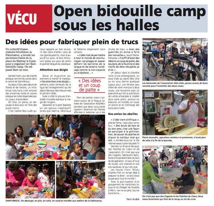 """Hebdomadaire """"Le Penthièvres"""" du 11 juin 2015"""
