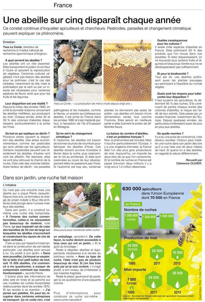 """hebdomadaire """"Dimanche Ouest-France"""" du 27 juillet 2014"""