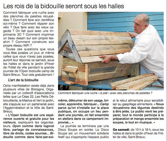 "Journal ""Ouest-France"" du 19 avril 2014"