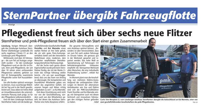 Lünepost vom 30.03.2013 - PMK 6 neue Flitzer