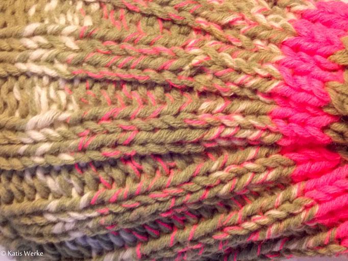 1 Knäuel = 1 Mütze pink