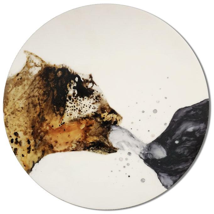 Des Kleinen Zähmungskraft - Lack auf Acryl - Durchmesser 47cm - 2013