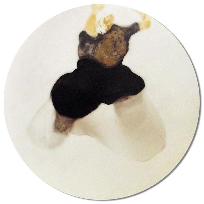 Im Flug - Lack auf Acryl - Durchmesser 47cm - 2013