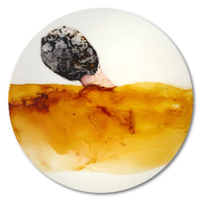 Ohne Titel - Lack auf Acryl - Durchmesser 47cm - 2013