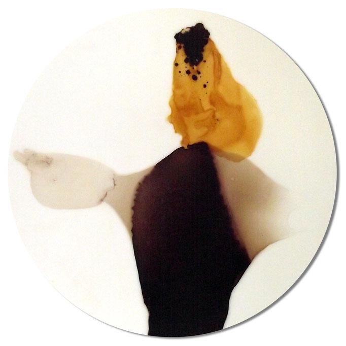 Fechter - Lack auf Acryl - Durchmesser 47cm - 2013