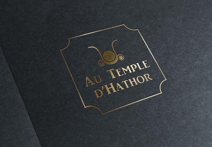 Création du logo AU TEMPLE D'HATHORE