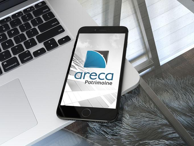 Création du logo ARECA PATRIMOINE