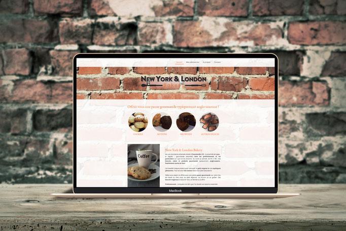 Création du logo et site NEW YORK & LONDON BAKERY