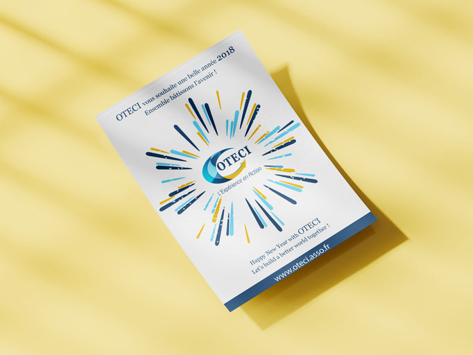 Création du logo et carte de voeux de OTECI