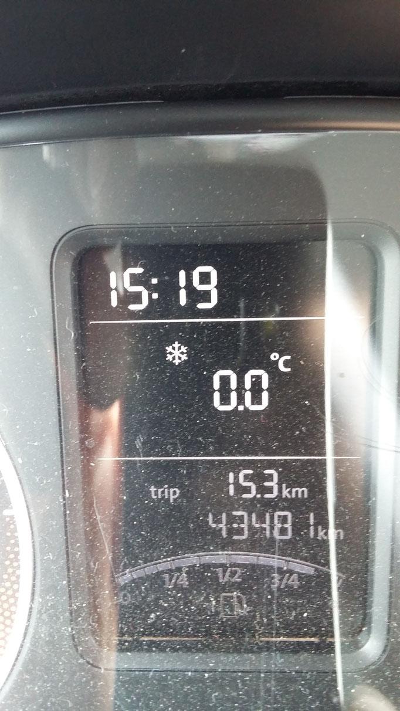 am ersten Mai; Schnee und null Grad ;-)