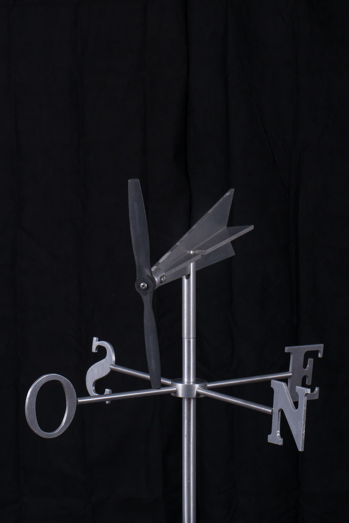 "Fly win weathervane, 22"" height x 24"" x 24"", aluminium, 2010."
