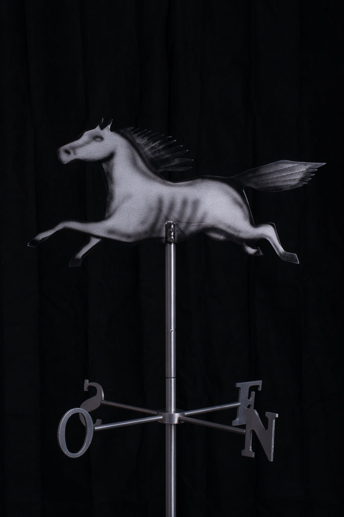 "Running Horse Weathervane, 31"" height x 24"" x 24"", aluminium, 2008."