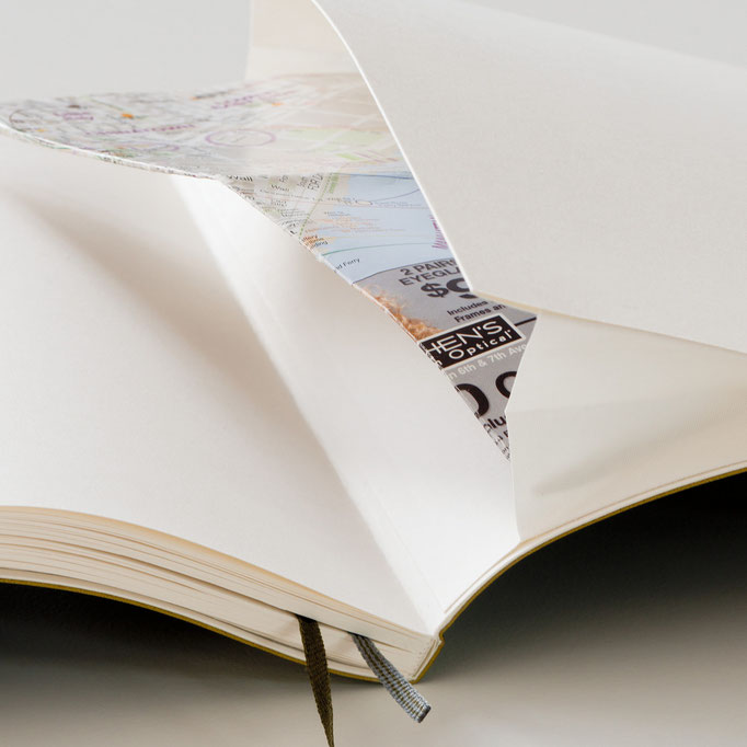 Falttasche im Einband, Notizbuch Leuchtturm1917