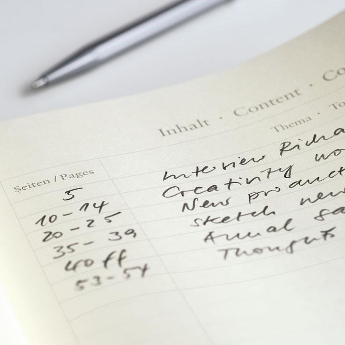 Inhaltsverzeichnis von Notizbuch Leuchtturm1917
