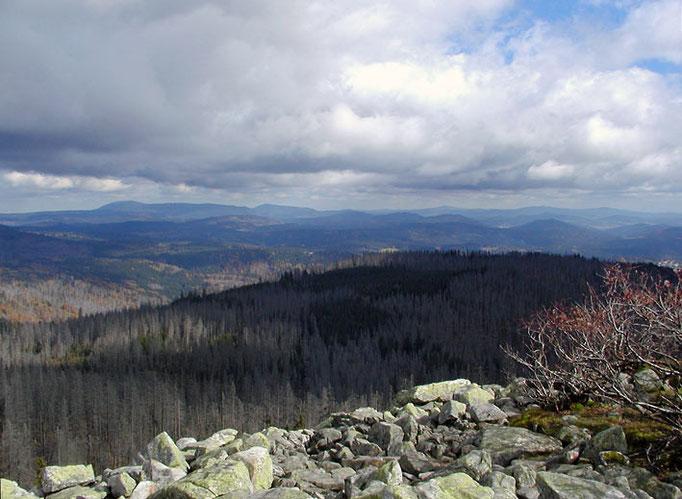 Nationalpark Bayerischer Wald: Blick vom Lusen mit Blockmeer