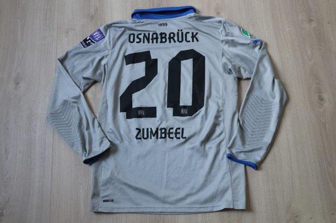 VfL Osnabrück 2012/13 Torwart, Fanoffensive Patch 5.8.12 gg. Offenbach, Nr. 20 Zumbeel (Matchvorbereitet)