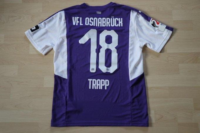 "VfL Osnabrück 18/19 Heim, Sonderpatch ""Germany Candidate for UEFA EURO 2024"", Nr. 18 Trapp (Matchworn gg. Zwickau 23.09.18)"