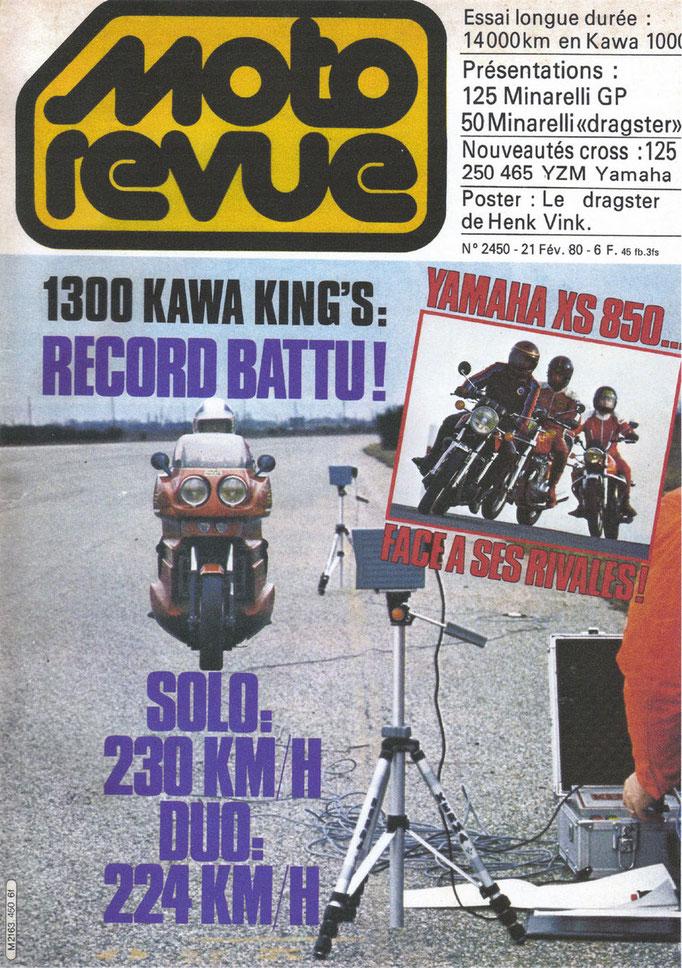 Page de couverture Moto Revue de la Kawa 1300 équipée du carénage King's