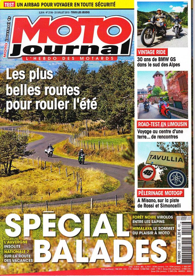 Spécial balade Limousin Moto Journal 2015.