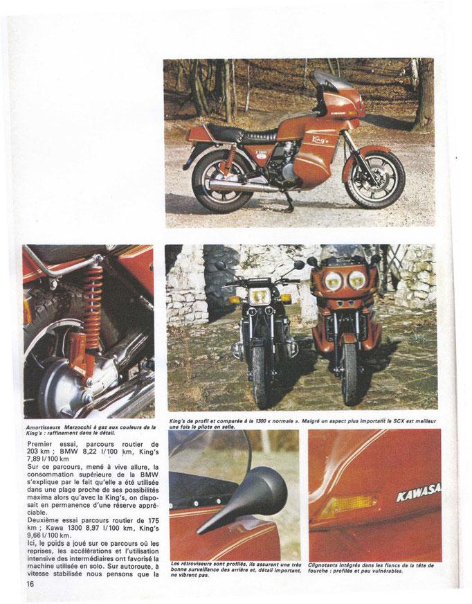 Suite reportage Moto Revue dela Kawa 1300 équipée du carénage King's