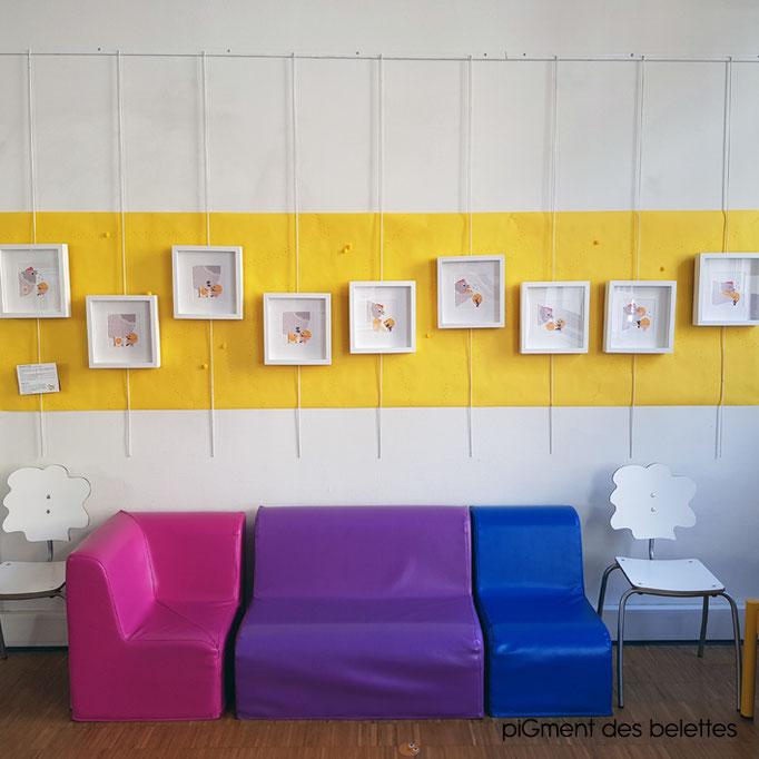 Création exposition Petite enfance sur le thème du corps [ Printemps des Petits Lecteurs, Bibliothèque municipale Lyon