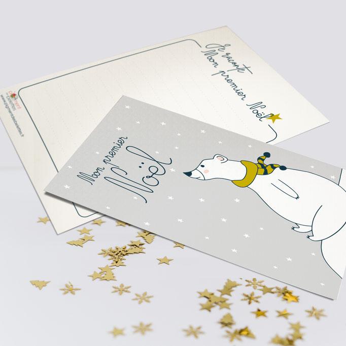 "Création carte ""Mon premier Noël"" | Partenariat Box Baby Tiniloo 2020"