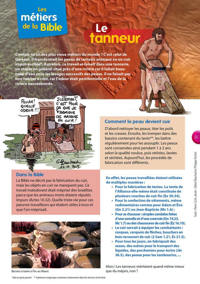 Métiers de la Bible - Le tanneur - Tournesol 404