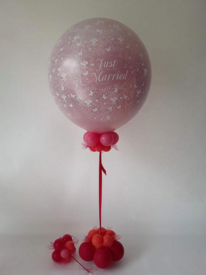 Der Exploding Ballon wird mit bis zu 100 kleinen Herz- oder Rundballons gefüllt, die nach dem öffnen in den Himmel steigen. Ein echtes Highlight zu jeder Trauung.