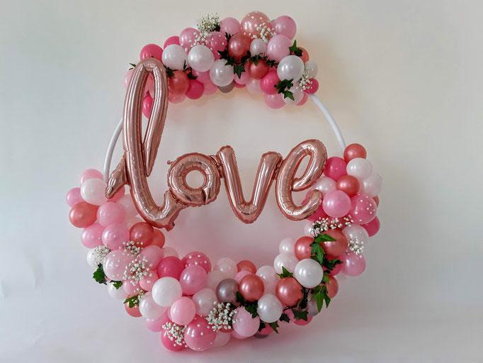 Love-Ring in den Farben Ihrer Wahl. Mit oder ohne Schriftzug. Wir bauen den Ring nach Ihren Wünschen.
