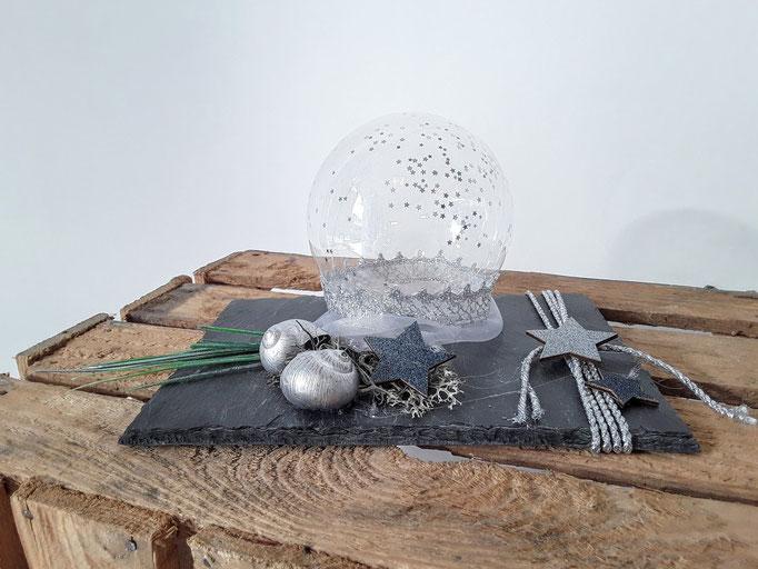 Natursteinkombi. Handarbeit vom Ballonladen. Dieses Dekogeschenk ist ein Unikat. Das tolle: Sie können hierin ein Geldgeschenk verpacken lassen.