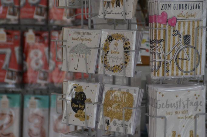 Geschenkkarten und Glückwunschkarten.