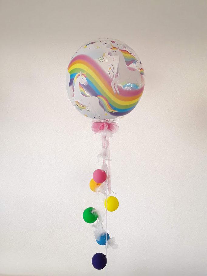 Wunderschöner Bubble. Mit Einhorn Motiv ein garantiertes WOW Geschenk.