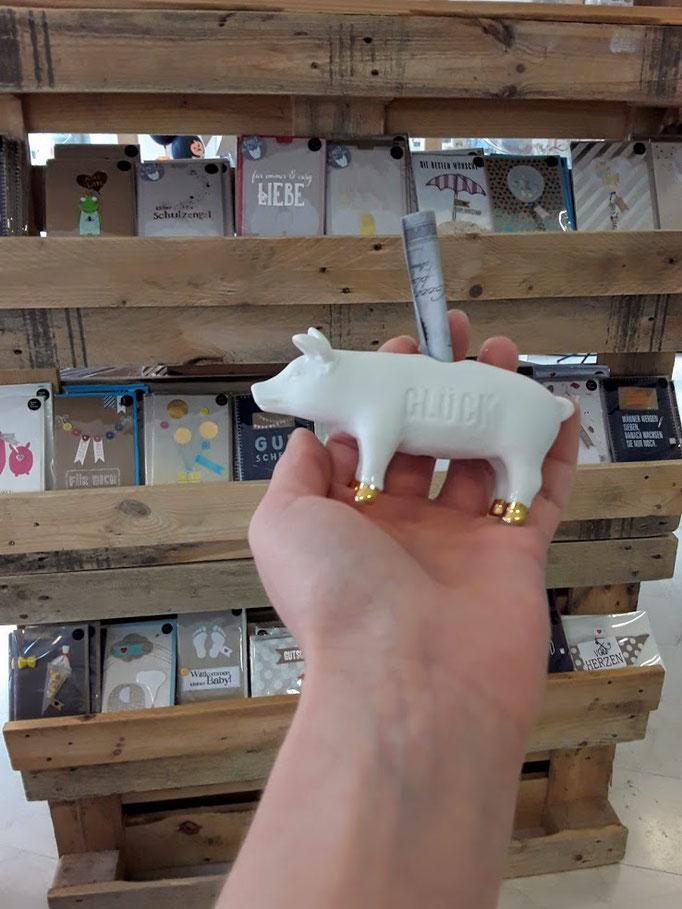 Schwein gehabt. Verpackung für Geldgeschenke.