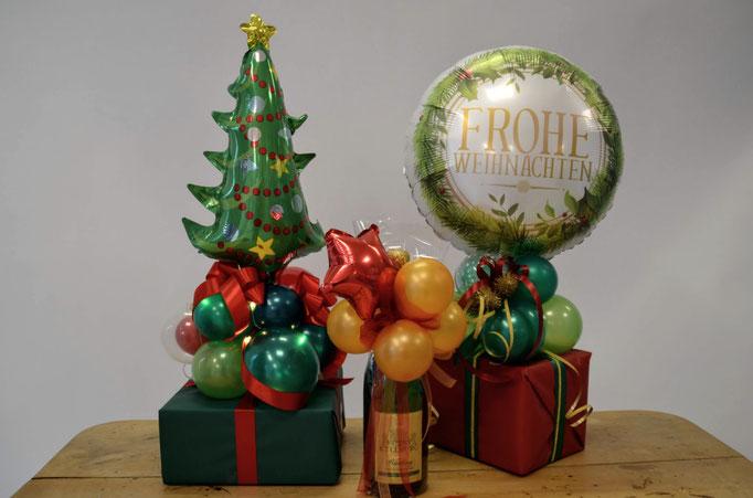Sie möchten Ihre Weihnachtsgeschenke ganz besonders toll verpacken? Eine Verpackung aus Ballons und Schleifen wirkt edel und hochwertig. Auch als Verpackungsservice für Firmengeschenke.