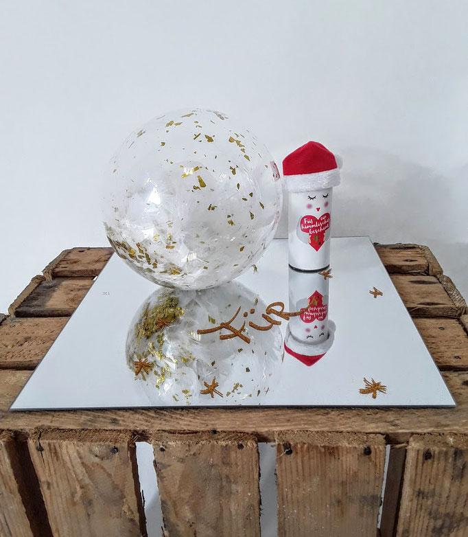 Ein Geldgeschenk für... Handarbeit vom Ballonladen. Dieses Dekogeschenk ist ein Unikat. Das tolle: Sie können hierin ein Geldgeschenk verpacken lassen.