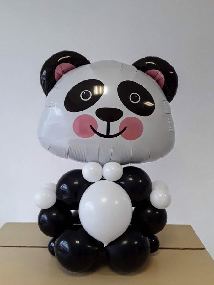 Ein Panda Bär als Ballondekoration, Tischdekoration.