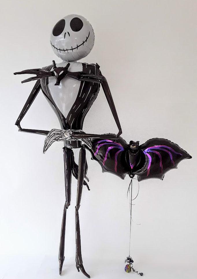 Stellen Sie sich jetzt mal vor, diese zwei sind auf Ihrer Halloween-Party dabei. Genial oder? Der Skelettmann ist sogar lebensgroß. WOW.