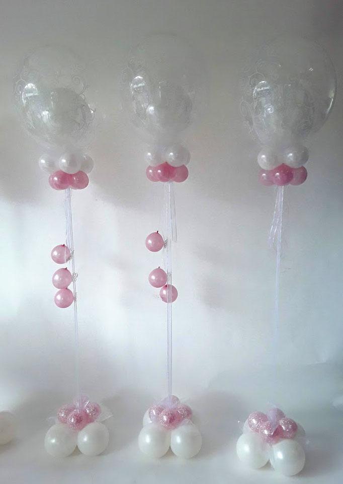 Leichter Bubble-Dekorationstraum in rosa und weiß. Mit einigen Spezialeffekten... Schon gefunden?