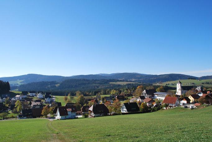 Blick auf Breitnau Mitte