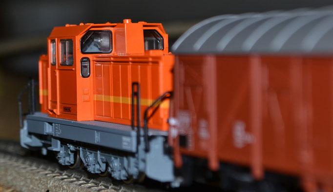 Industriebahn mit Henschel-Lok