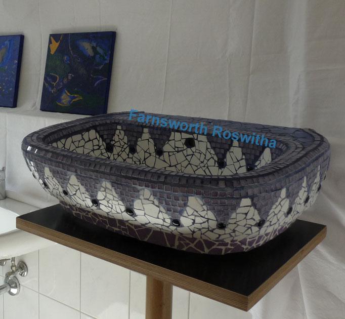 Waschbecken orientalisch! patentierte GestaltungsART - Waschbeckenbau mit Mosaik! Roswitha Farnsworth