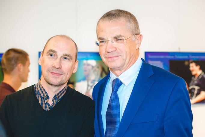 Mit Alexander Medwedew (stellvertretender Vorsitzender des Vorstandes der Gazprom)  Fotograf Alena Wilhelm, Fotostudio SaveMoment