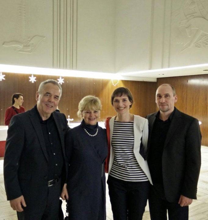 Mit Paul Werner Wagner, Literaturwissenschaftler, Kulturmanager und Schachfunktionär.