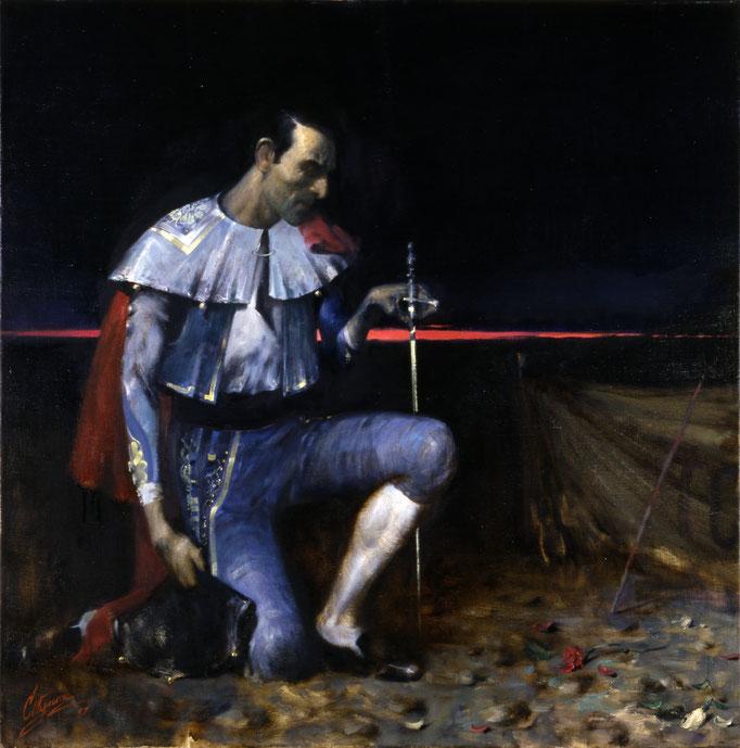 Beichtender Torero (Öl auf Leinwand 1997)
