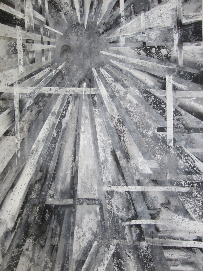 Des Vaters Brief (2011) Acryl auf Karton 100x150cm